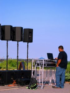 Phil DJ'ing At South Beach Boardwalk