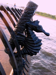 A Beautiful Sea Horse Sculpture On The South Beach Fishing Pier
