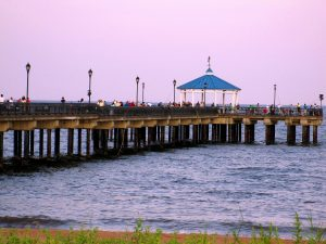 The Fishing Pier On The FDR Boardwalk And Beach On Staten Island