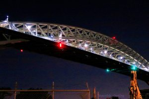 Bayonne Bridge At Night. Looking North From Richmond Terrace. 9-14-2019 Image Credit: StatenIslander.Org