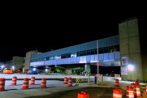 Goethals Bridge Cashless Toll Plaza and Port Authority Offices Above I-278 At Night. Looking East From Western Ave. By Bridge Creek. 9-15-2019 Image Credit: StatenIslander.Org