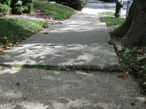 Raised and Cracked Conrete Sidewalk Pavers In Port Richmond Center, Staten Island North Shore StatenIslander.org
