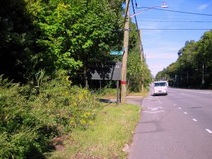 Wolfe's Pond Park. At Cornelia Avenue and Hylan Boulevard, this is the South Shore's largest park. Here is the sign. It's easy to miss. Image Credit- StatenIslander.Org