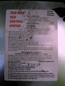Tick-Tock Box Information Sticker. Let's us know precisely what's inside, as well as when the box was placed. Image Credit- Staten Islander News