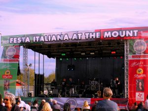 Sound Stage At Festa Italiana On The Mount At Mount Loretto, Staten Island, NY October 13, 2019.