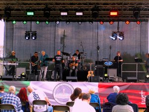 THe Band Geting Ready To Play At Festa Italiana On The Mount, 2019.Image Credit: Staten Islander