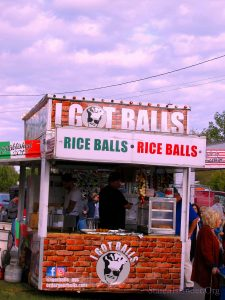 "Rice Balls! A Sicilian Favorite! ""I Got Balls"" Food Stand. What Would An Italian Festivsal Be Without Sicilian Fare? Image Credit: StatenIslander.Org"