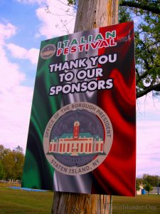 Italian Festival Signage Thanking Sponsor Borough President James Oddo's Office For Sponsorship Of The Event. Image Credit: StatenIslander.Org