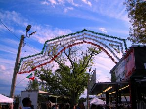 Streamers Stretched Across The Main Thoroughfare At Festa Italiana. Image Credit: StatenIslander.Org