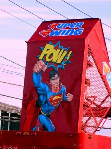 POW! The Superman Kids Ride Called The Super Swing Going Back And Forth, Back And Forth. Image Credit: Staten Islander