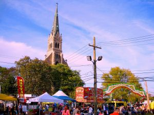 Festa Italiana On The Mount, Main Walk With The Old Church Looming Beyond. Image Credit: Staten Islander