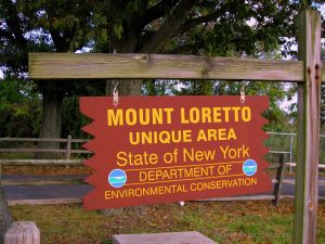 Mount Loretto Unique Area Designation Sign For thr State of New York Department of Environmental Conservation. Image Credit - StatenIslander.Org