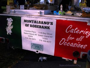Montalbano's Food Cart In Classic Green,White, And red. Image Credit: Staten Islander