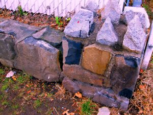 Walls and Foundation Stones We Found On Staten Island's North Shore That May Also Be Comprised Of Graniteville Quarry Stone.