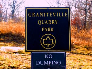 Graniteville Quarry Park NYC Parks and Rec Official Sign. Image Credit: StatenIslander.Org