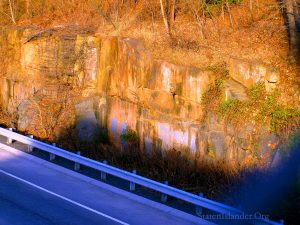 Palisades Diabase OutCropping At Bennett Quarry Along I-440 North.
