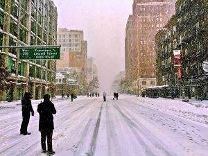 Snowstorm on 10th Avenue - New York City. Image Credit: License by CC 2.0 Andreas Komodromos