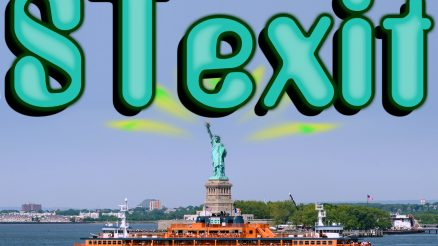 Stexit. Image Credit: Peter Miller, Photography; Artwork and Text, Staten Islander