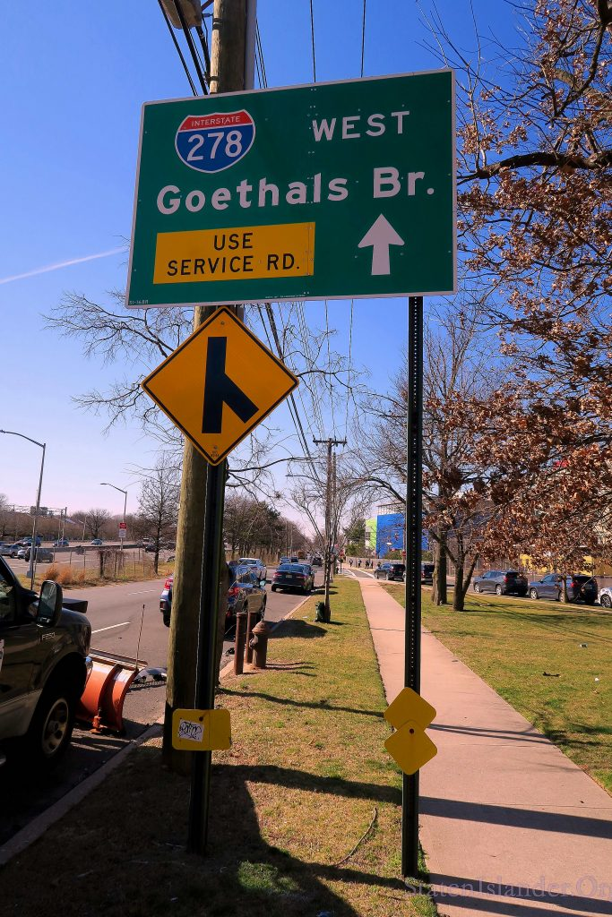 A speed cam on Goethals Road North.
