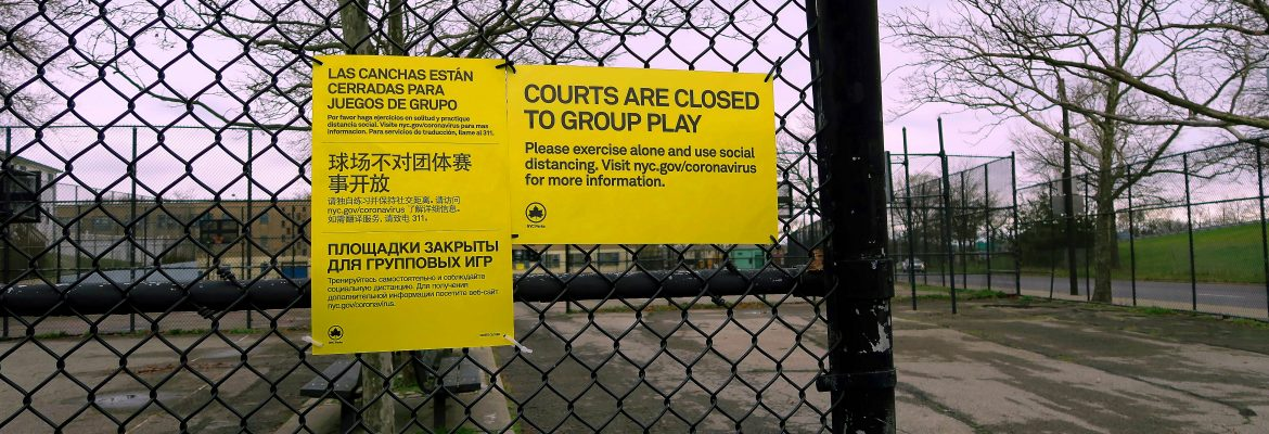 Notice At I.S. 51 Informing That Group Play Is Now Forbidden