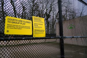 NYC Parks Department Notice That The Racquetball Court At Forest And Willow Road East Is CLOSED.