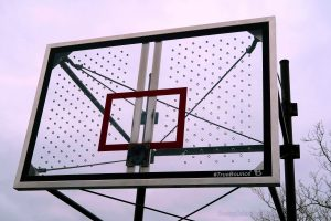 The Rims Are Gone At The Big Park Basketball Courts.