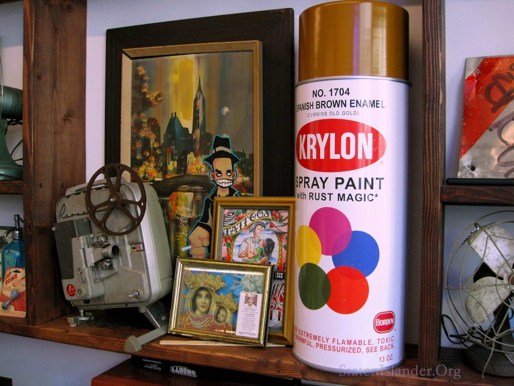 A can of Krylon. An old reel-to-reel. A Mass Card. And More.