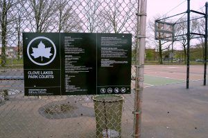 Clove Lakes B-Ball Court Signage.