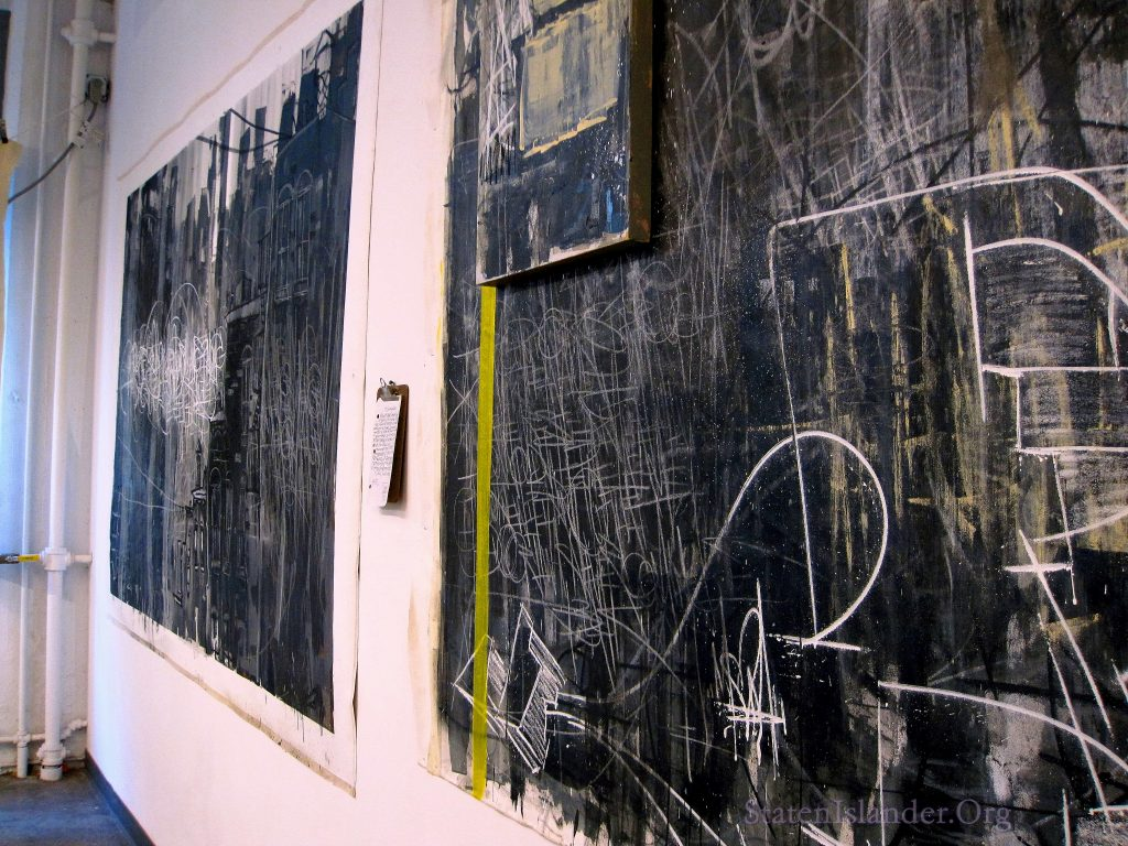 The Gallery Walls adorned with Kaves' works.
