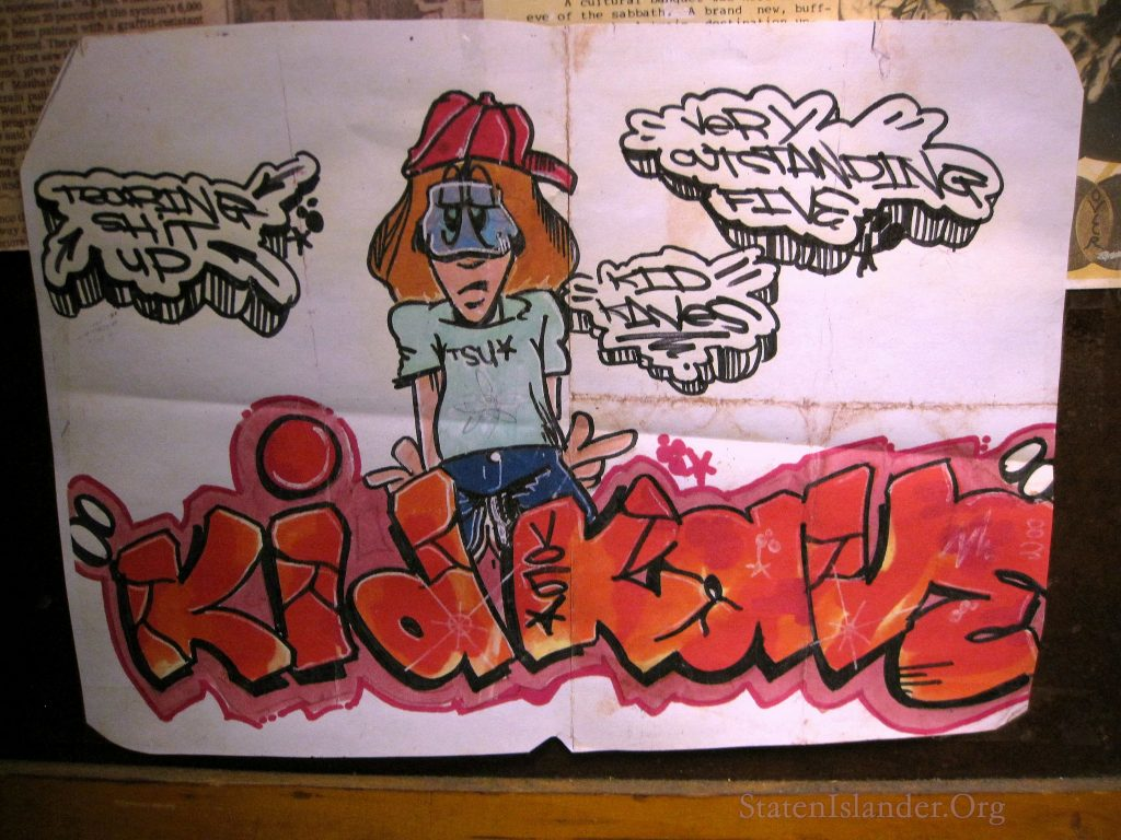 Early Kaves piece on paper with marker.