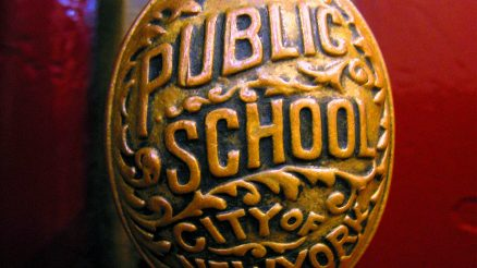 Schools stay open for now! Public School Antique Doorknob. Image Credit: Warzsee
