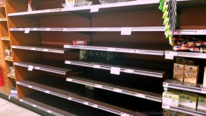 Whole Foods Milburn, NJ. Shelves Empty But For A Few Items