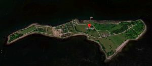 Hart Island. Ariel View Image Courtesy of Alphabet, Inc. U.S. Navy