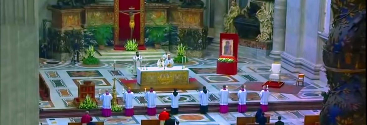 Vatican Easter Sunday Mass led By Pope Francis. Courtesy Of Vatican News Service