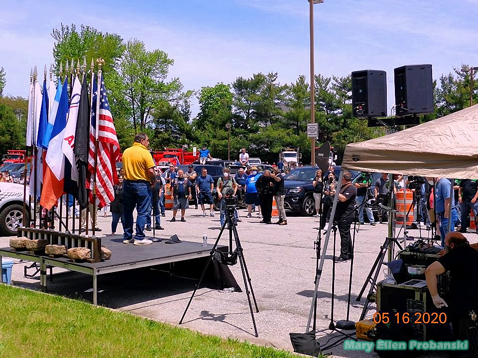 A View Of The Crowd And Steve Margarella During His Speech At The Rally To Re-Open New York City In Travis On Staten Island - Image Credit Mary Ellen Probanski
