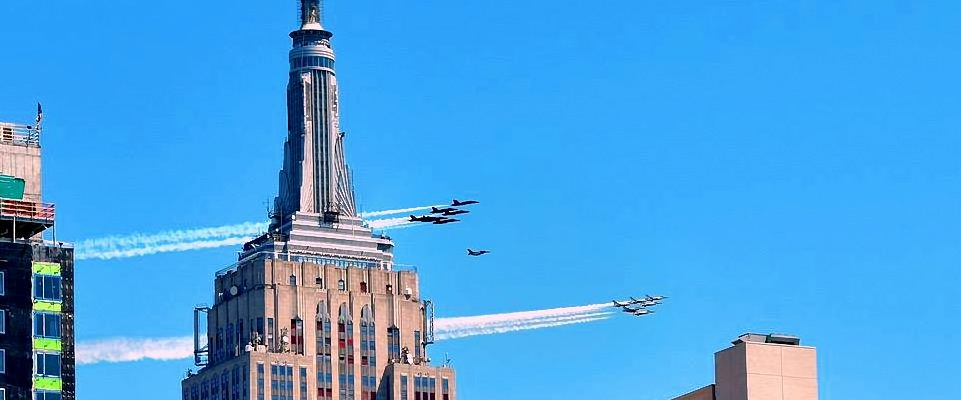 Blue Angels Passing The Empire State Building. Image Credit- Paul Tillinghast
