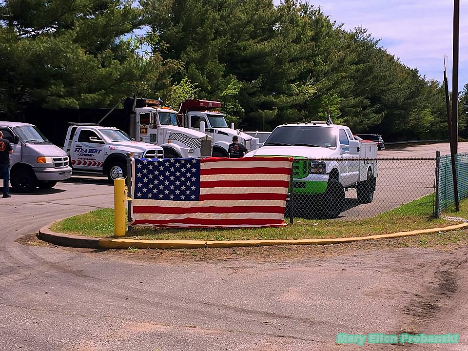 Group Of Trucks From Margarella, Fix A Dent, And Others At The Back2Work Rally In Travis On Staten Island - Image Credit Mary Ellen Probanski