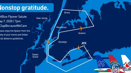 JetBlue Flyover. Nonstop Gratitude, or nonstop stress?