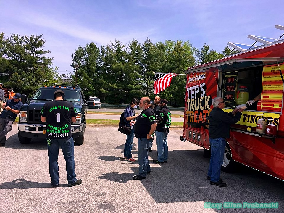 Johnny's Catering Food Truck At The Rally On Staten Island - Image Credit Mary Ellen Probanski