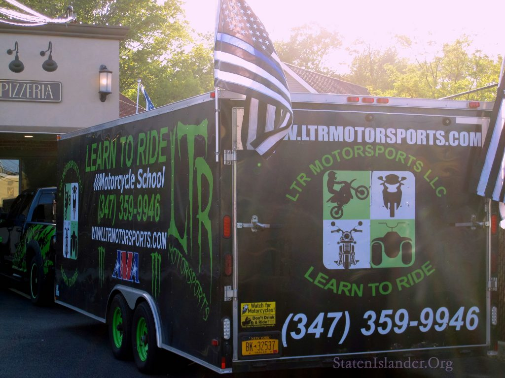 Learn To Ride Motorsports School Brought Their Truck And Several Bikers To The Staten Island Protest