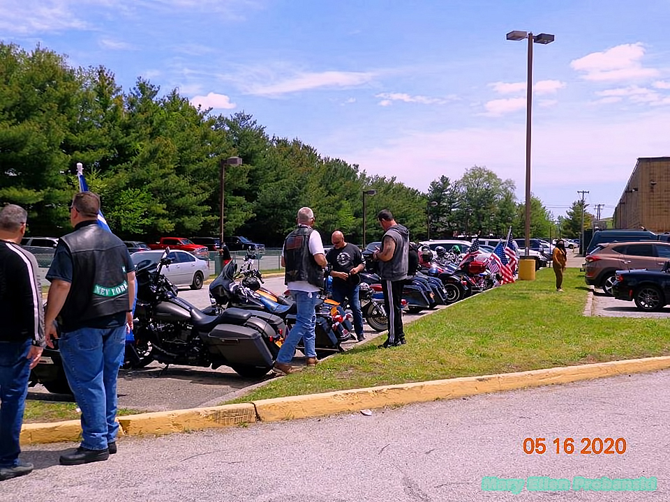 Motorcycles And Bikers At The Protest In Travis To Re-Open New York City - Image Credit Mary Ellen Probanski