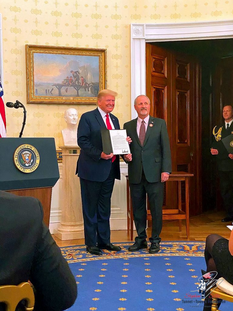 Mr. Frank Siller and President Donald Trump At the White House