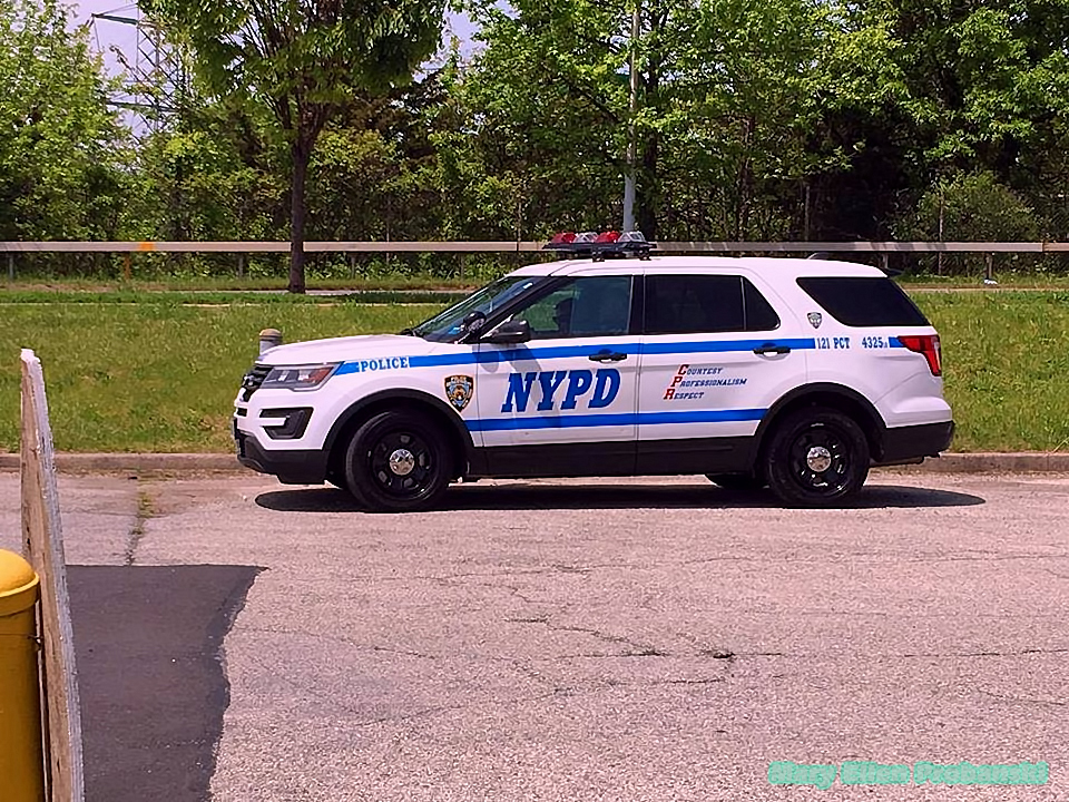 Police Presence Watching The Staten Island Back2Work Event - Image Credit Mary Ellen Probanski