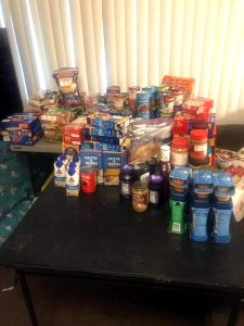 Donations For The Pop-Up Food Pantry. From Chris Haynes' Facebook Page