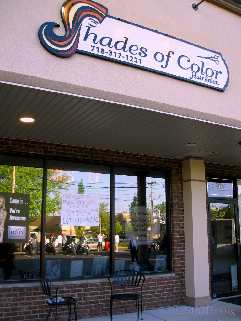 Shades Of Color, The Small Business Owned By Several Of The Rally Participants, In The Jefferson Plaza
