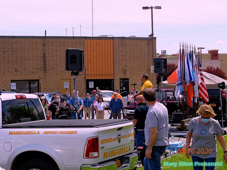 Steve Margarella Speaking At The Rally In Travis To Re-Open New York - Image Credit Mary Ellen Probanski