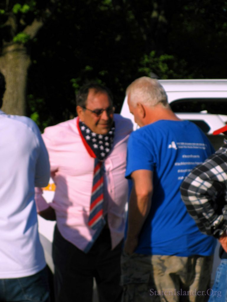 Steve Margarella Speaks With Protestors After The Rally