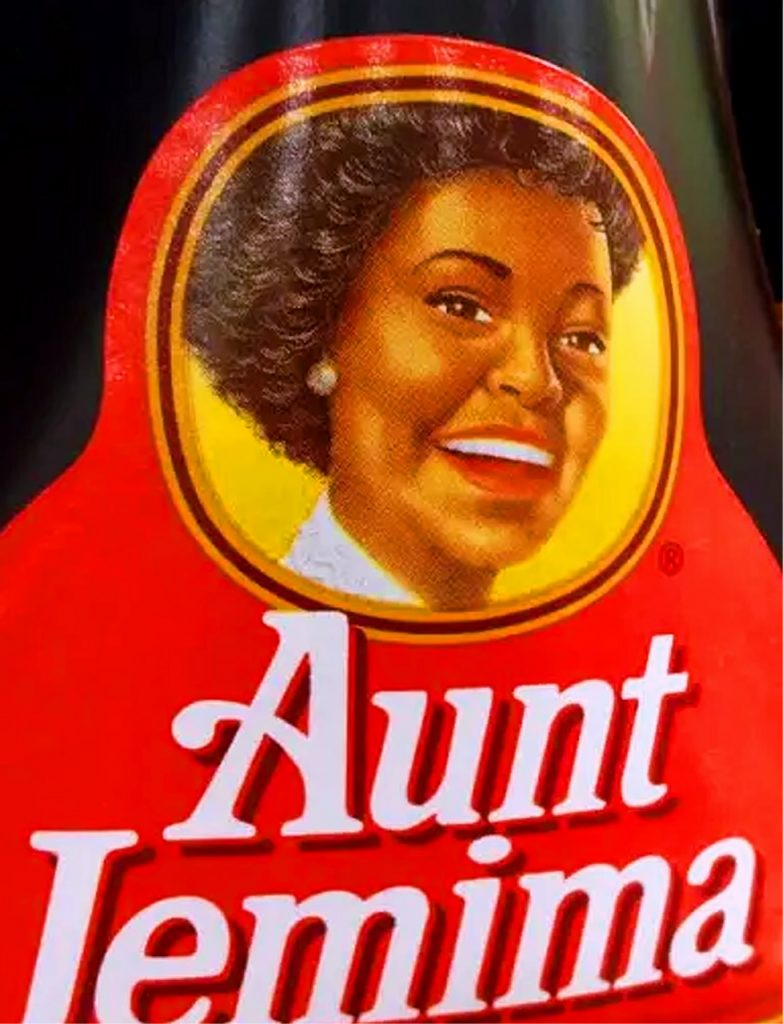Aunt Jemima Modern Logo With Pearls