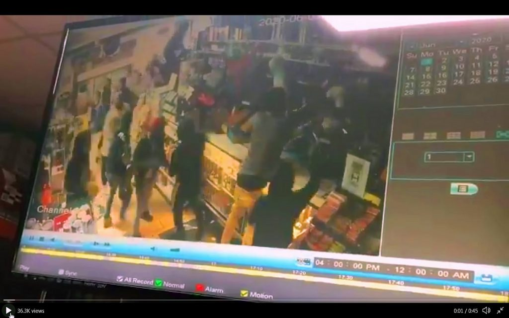 Looters Robbing Mexican Store