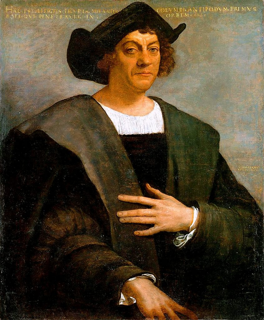 Posthumous portrait of Christopher Columbus by Sebastiano del Piombo, 1519. Image Credit-Wikipedia. License By CC 2.0
